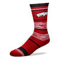 Adult For Bare Feet Arkansas Razorbacks RMC Stripe Crew Socks