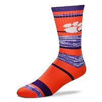 Adult For Bare Feet Clemson Tigers RMC Stripe Crew Socks