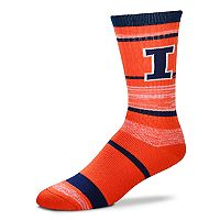 Adult For Bare Feet Illinois Fighting Illini RMC Stripe Crew Socks