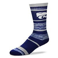 Adult For Bare Feet Kansas State Wildcats RMC Stripe Crew Socks