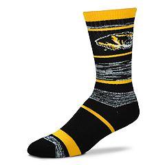 Adult For Bare Feet Missouri Tigers RMC Stripe Crew Socks