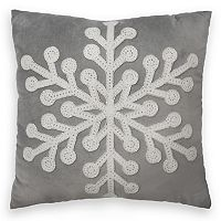 St. Nicholas Square® Large Snowflake Throw Pillow