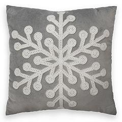 St. Nicholas Square® Large Snowflake Throw Pillow