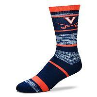 Adult For Bare Feet Virginia Tech Hokies RMC Stripe Crew Socks