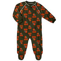 Baby Cleveland Browns Fleece Footed Pajamas