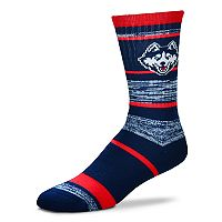 Adult For Bare Feet UConn Huskies RMC Stripe Crew Socks