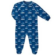 Baby Detroit Lions Fleece Footed Pajamas