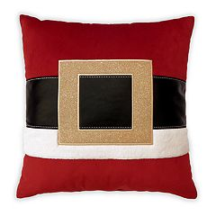 St. Nicholas Square® Santa Belt Throw Pillow