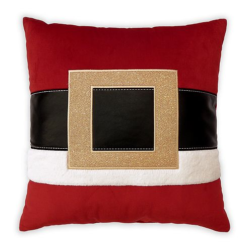 St. Nicholas Square® Santa Belt Throw Pillow