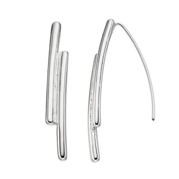 Dana Buchman Double Bar Nickel Free Threader Earrings
