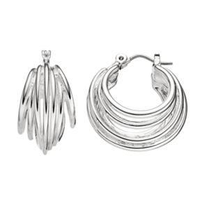 Dana Buchman Multi Row Nickel Free Hoop Earrings