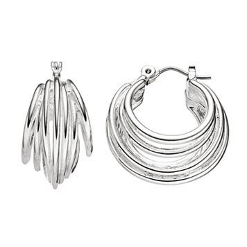 Dana Buchman Multi Row Nickel Free Hoop Earrings
