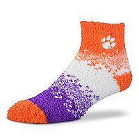 Women's For Bare Feet Clemson Tigers Marquee Sleep Socks