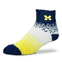 Women's For Bare Feet Michigan Wolverines Marquee Sleep Socks