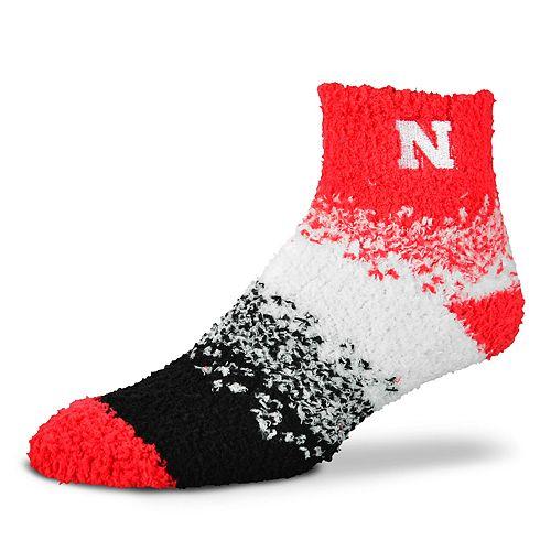 Women's For Bare Feet Nebraska Cornhuskers Marquee Sleep Socks