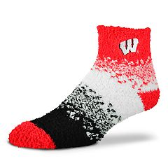Women's For Bare Feet Wisconsin Badgers Marquee Sleep Socks