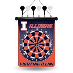 Illinois Fighting Illini Magnetic Dart Board