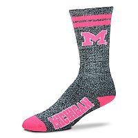 Adult For Bare Feet Michigan Wolverines Crew Socks