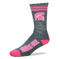 Adult For Bare Feet Michigan State Spartans Crew Socks