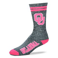 Adult For Bare Feet Oklahoma Sooners Crew Socks