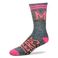 Adult For Bare Feet Maryland Terrapins Crew Socks