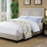 Pulaski Adjustable Upholstered Nailhead Queen Bed