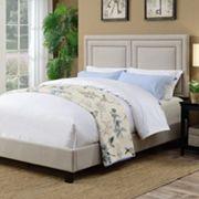 Pulaski Adjustable Upholstered Nailhead Queen Bed