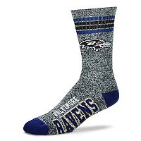 Adult For Bare Feet Baltimore Ravens Got Marbled Crew Socks