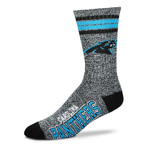 Adult For Bare Feet Carolina Panthers Got Marbled Crew Socks