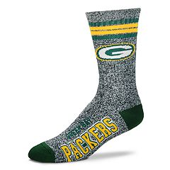 Adult For Bare Feet Green Bay Packers Got Marbled Crew Socks