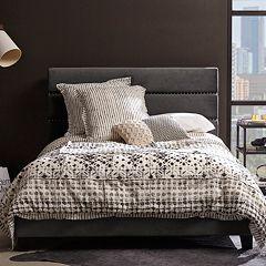 Pulaski Adjustable Channel Stitch Upholstered Queen Bed