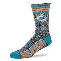 Adult For Bare Feet Miami Dolphins Got Marbled Crew Socks
