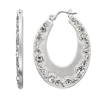 Dana Buchman Simulated Crystal Nickel Free Hoop Earrings
