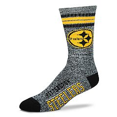 Adult For Bare Feet Pittsburgh Steelers Got Marbled Crew Socks