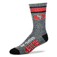Adult For Bare Feet San Francisco 49ers Got Marbled Crew Socks