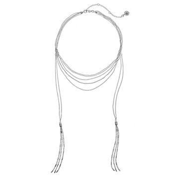 Jennifer Lopez Multi Strand Hanging Tassel Necklace