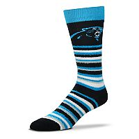 Adult For Bare Feet Carolina Panthers Muchas Rayas Crew Socks