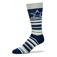 Adult For Bare Feet Dallas Cowboys Muchas Rayas Crew Socks