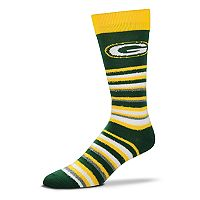 Adult For Bare Feet Green Bay Packers Muchas Rayas Crew Socks