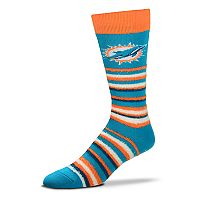 Adult For Bare Feet Miami Dolphins Muchas Rayas Crew Socks