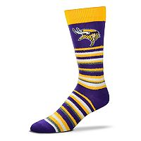 Adult For Bare Feet Minnesota Vikings Muchas Rayas Crew Socks