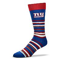 Adult For Bare Feet New York Giants Muchas Rayas Crew Socks