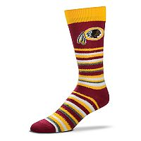 Adult For Bare Feet Washington Redskins Muchas Rayas Crew Socks