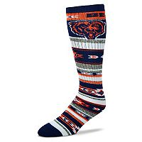 Adult For Bare Feet Chicago Bears Tailgater Crew Socks