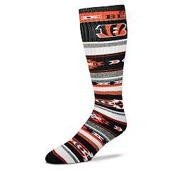 Adult For Bare Feet Cincinnati Bengals Tailgater Crew Socks