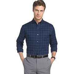 Men's Van Heusen Regular-Fit Herringbone Flex Stretch Non-Iron Button-Down Shirt