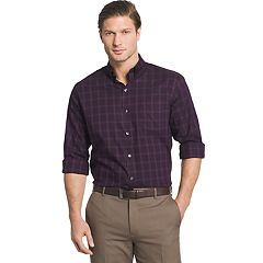 Men's Van Heusen Regular-Fit Herringbone Flex Stretch Non-Iron Button-Down Shirt