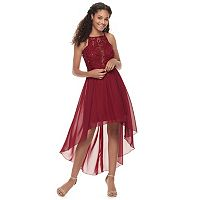 Juniors' Speechless Chiffon High-Low Hem Dress