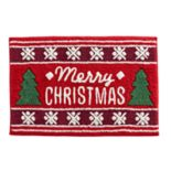 St. Nicholas Square® Through the Woods Merry Christmas Bath Rug