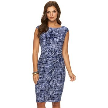 Women's Chaps Printed Twist-Front Dress